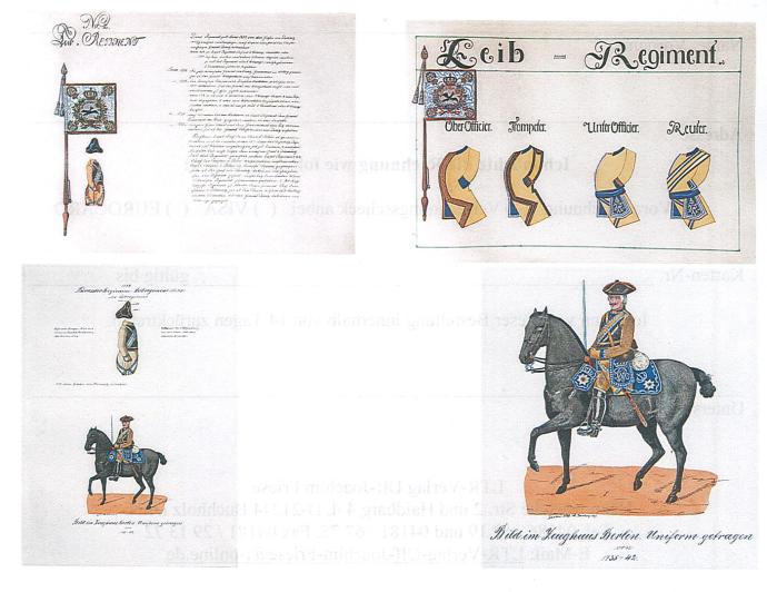 Preußische Kürassierbilder 1729-1739/40