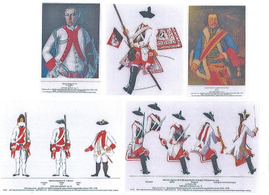 128 Farbtafeln + kommentierende.Blätter der K.K.-Armee-Maria Theresias Soldaten 1740-1763 lieferbar