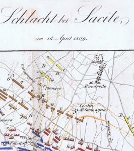 Krieg Frankreich-Österreich-1809-Schlacht bei Sacile-Neudruck-der-Ausgabe-Wien-1838