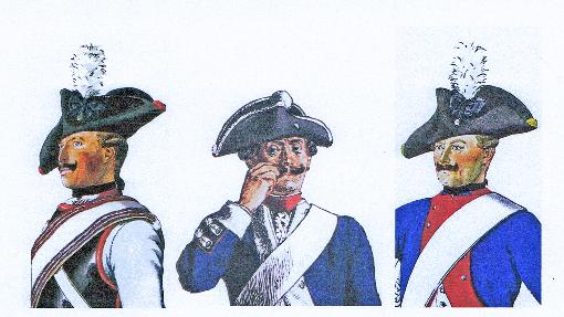 """Adolf Menzel - Ausschnitte aus: """"Die Armee Friedrichs des Grossen in ihrer Uniformierung"""""""